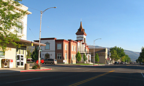 One of the main streets in Ephraim located in Sanpete county Utah.